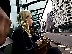 Flashing my beef whistle in public bus stop