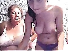 Busty Teen & Grandma On Web cam