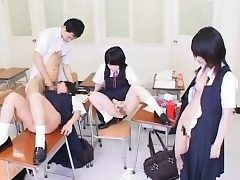 Hypnotized Chinese College girls Get Cum!