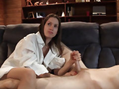 Young uber-cute damsel plays with his lovely dick
