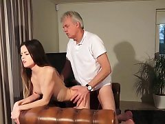 Old and Young Porn - Babysitter twat screwed by old stud