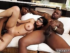 Teenage dual penetration meaty tits My Big Black Threeway