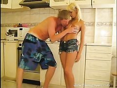 Lewd bang-out in kitchen