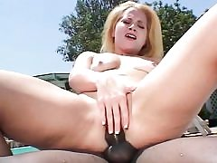 Amazing blonde fuckslut gets her ass nailed by bbc